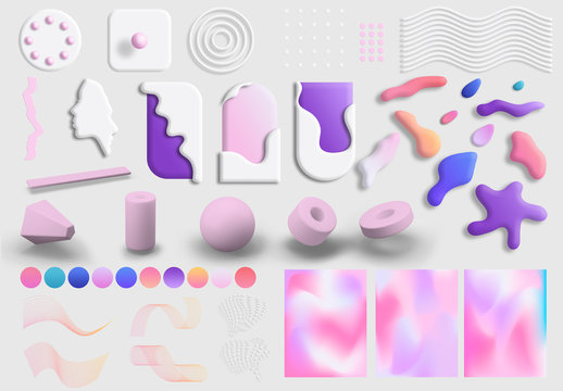 Soft and Surreal 3D Art Kit