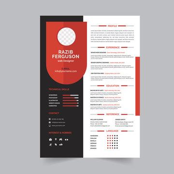 Professional Creative resume template design. Professional jobs CV/Resume, Corporate work hire interview document.