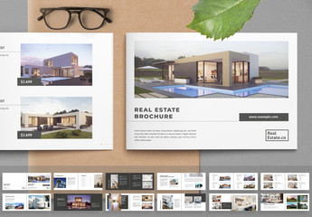 Landscape Real Estate Brochure Layout