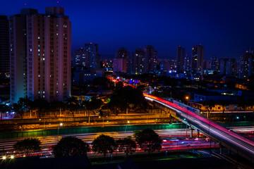 Night Sky of the Tatuapé Neighborhood in São Paulo Brazil