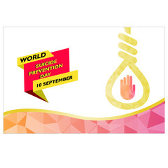World Suicide Prevention Day (September 10) concept design. vector illustration