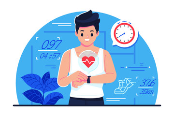 Fitnes tracker vector illustration