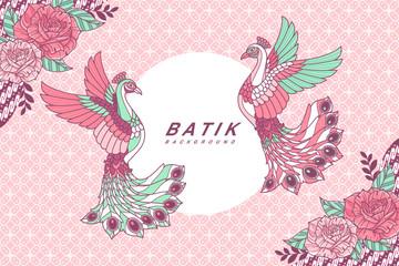 Peacock batik background