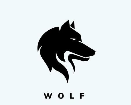 Very simple head wolf art logo design inspiration