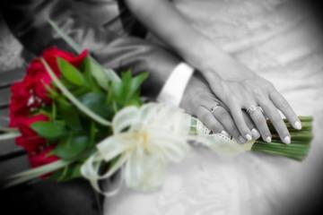 boda matrimonio amor casados pareja  Fotobehang