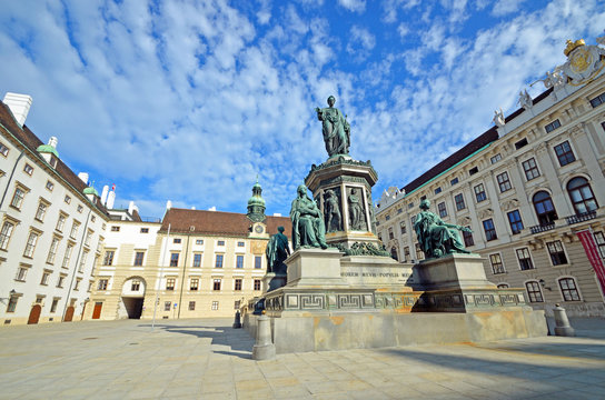 Statue of Kaiser Franz l at Hofburg palace in Vienna