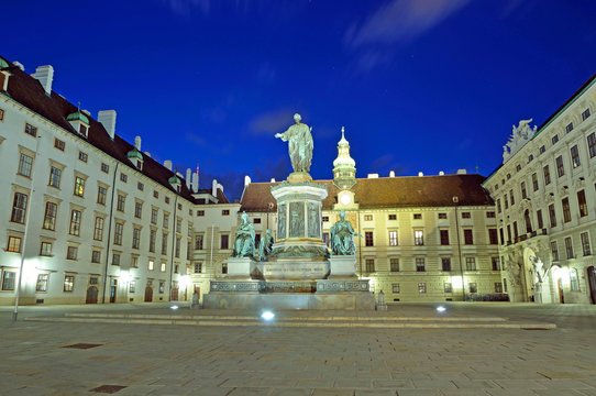 Courtyard of Hofburg palace in Vienna