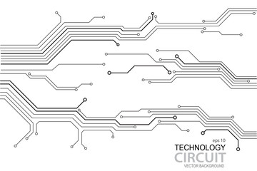 Abstract futuristic circuit board Illustration, high computer technology background. Hi-tech digital technology concept. Vector circuit board pattern for technology background