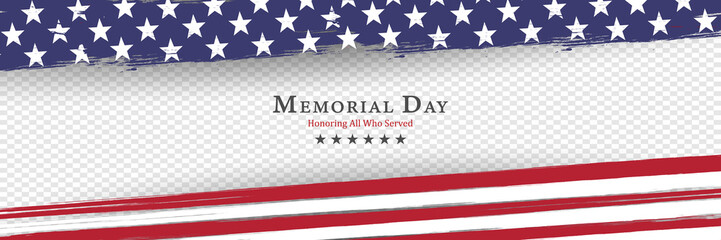 Memorial Day background vector illustration - honoring all who served