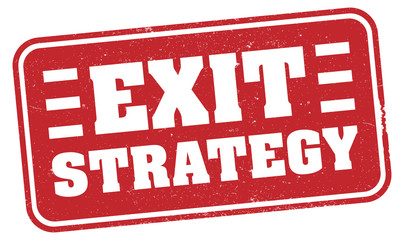 red grungy EXIT STRATEGY rubber stamp print or sign vector illustration, strategy to exit covid-19 lockdown