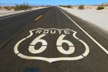 Foto op Plexiglas Route 66 route 66 sign on the road