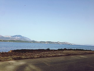 Fotomurales - Clear Sky Over Road By Sea