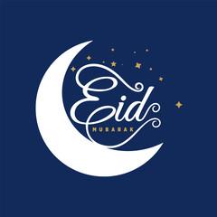 Eid Mubarak vector greeting social media card, poster, background creative geometric design and Eid Mubarak Artistic calligraphy.