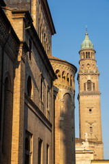 Fotomurales - Duomo of Parma, Italy and San Giovanni Evangelista church