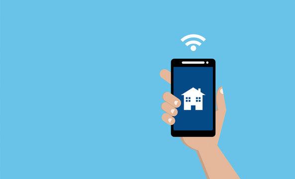 mano, telefono, smartphone, connessione, internet