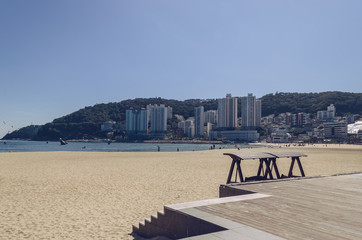 Songdo beach view on hot day