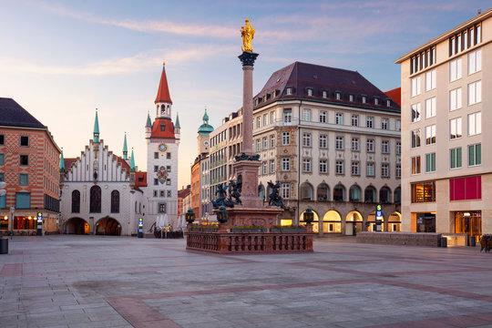 Munich. Cityscape image of Marien Square in Munich, Germany during sunrise.