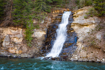 Beautiful scenic view of Colorado waterfall at national park