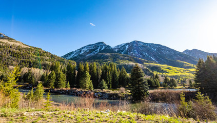Beautiful scenic view of Colorado mountains national parks
