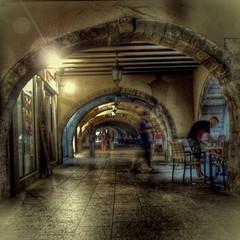 Keuken foto achterwand Oud Ziekenhuis Beelitz Pendant Lights Hanging In Corridor Of Building
