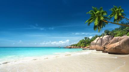 Fototapete - Anse Lazio beach at Praslin island, Seychelles