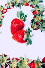 Photo sur Toile Dans la glace Organic Strawberries rich in vitamin and antioxidants