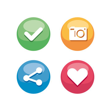 communication mobile icons and social network design