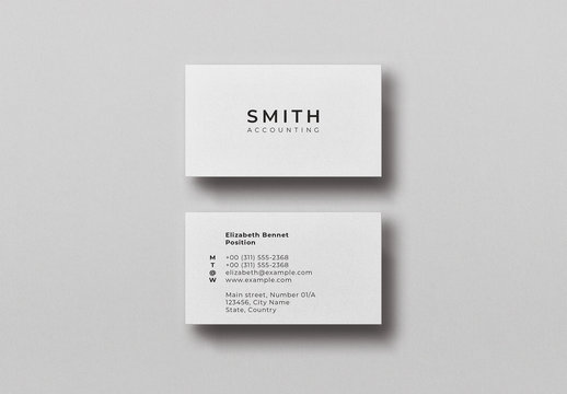 White Minimal Business Card Mockup