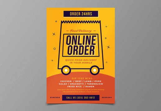 Food Delivery Flyer Layout