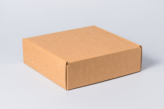 White carton gift box with cover, isolated