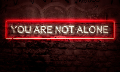 You Are Not Alone Neon Sign