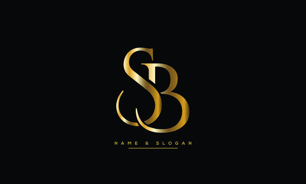 SB ,BS ,S ,B  letters abstract logo monogram