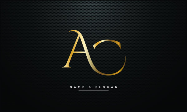 AC ,CA ,A ,C  letters abstract logo monogram