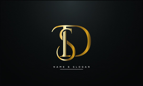 SD ,DS ,S ,D letters abstract logo monogram