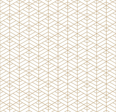 Seamless geometric pattern inspired by Japanese Kumiko ornament.