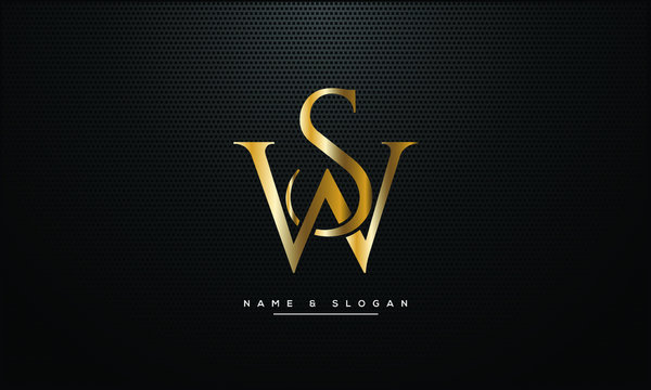 SW ,WS ,S ,W  letters abstract logo monogram