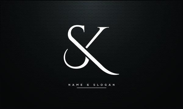 SK ,KS ,S ,K  letters abstract logo monogram