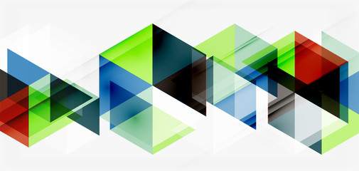 Geometric abstract background, mosaic triangle and hexagon shapes. Trendy abstract layout template for business or technology presentation, internet poster or web brochure cover, wallpaper Wall mural