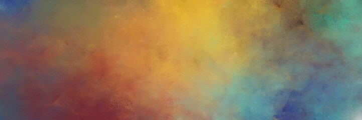 beautiful abstract painting background graphic with pastel brown, peru and cadet blue colors and space for text or image. can be used as horizontal background graphic