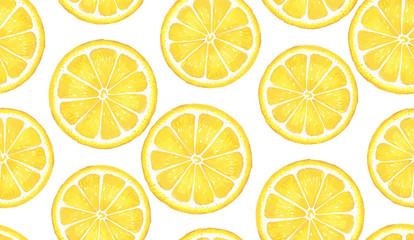 Pattern with lemon. Watercolor lemon. Suitable for curtains, wallpaper, fabrics, wrapping paper.