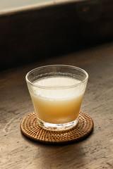 甘酒 sweet alcoholic drink made from sake