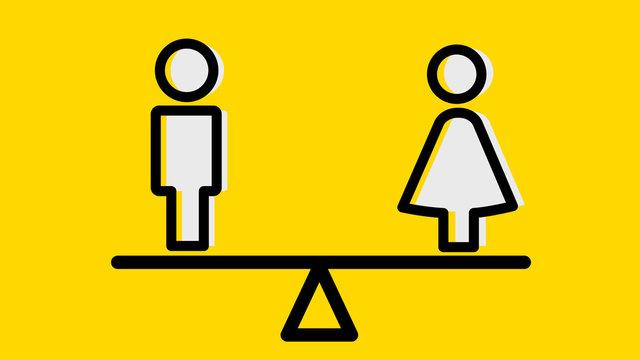 man and woman icon, pictogram, 男女関係、男女格差、男女平等、性別、男女のピクトグラム、アイコン、背景イメージ