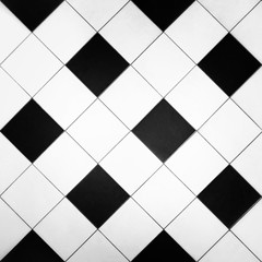 Black and White Tiles Pattern