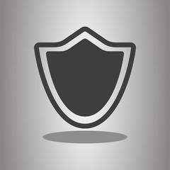 Sheild protection simple icon. Flat desing