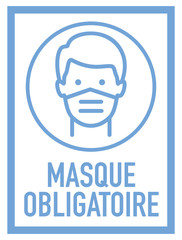 Pancarta de obligación uso de mascara