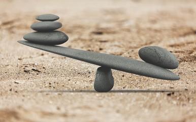 Papiers peints Montagne Spa concept with zen basalt stones