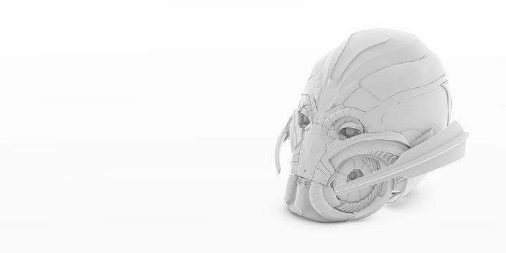 3d Illustration - ultron head isolated