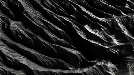 Abstract black  rock texture and background, Rock texture,,3d rendering,conceptual image.