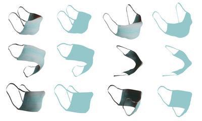 Medical mask vector set