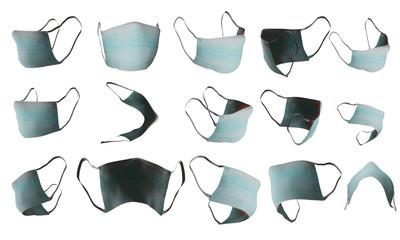 Medical mask set transparent raster